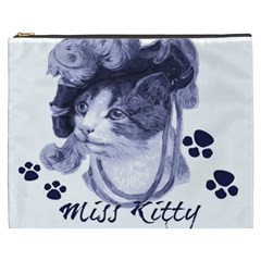 Miss Kitty blues Cosmetic Bag (XXXL)