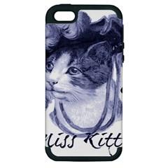Miss Kitty Blues Apple Iphone 5 Hardshell Case (pc+silicone)