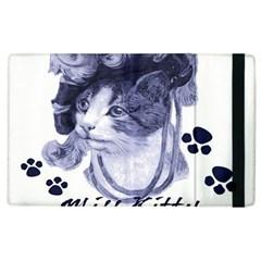 Miss Kitty blues Apple iPad 2 Flip Case