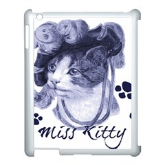Miss Kitty blues Apple iPad 3/4 Case (White)