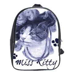 Miss Kitty blues School Bag (XL)
