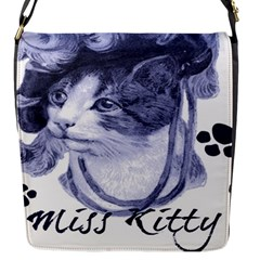 Miss Kitty blues Flap Closure Messenger Bag (Small)