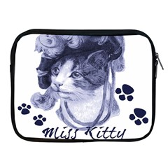 Miss Kitty Blues Apple Ipad Zippered Sleeve