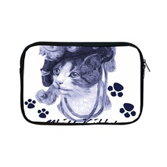 Miss Kitty blues Apple iPad Mini Zippered Sleeve