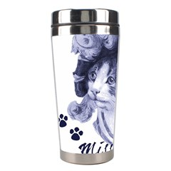 Miss Kitty Blues Stainless Steel Travel Tumbler