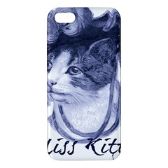 Miss Kitty blues iPhone 5S Premium Hardshell Case