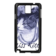 Miss Kitty blues Samsung Galaxy Note 3 N9005 Case (Black)
