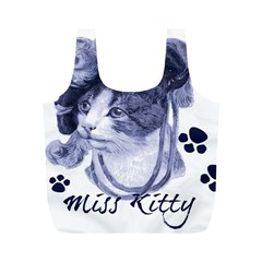 Miss Kitty blues Reusable Bag (M)