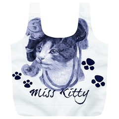 Miss Kitty blues Reusable Bag (XL)