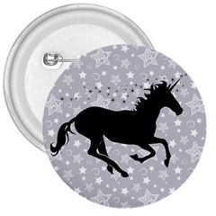 Unicorn on Starry Background 3  Button