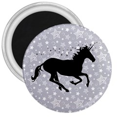 Unicorn on Starry Background 3  Button Magnet