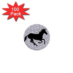 Unicorn on Starry Background 1  Mini Button (100 pack)