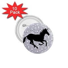 Unicorn on Starry Background 1.75  Button (10 pack)