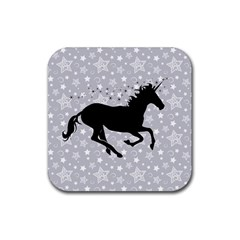 Unicorn on Starry Background Drink Coasters 4 Pack (Square)