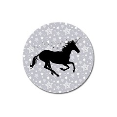 Unicorn on Starry Background Magnet 3  (Round)