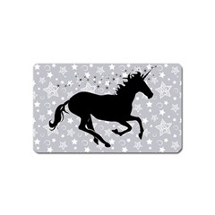 Unicorn on Starry Background Magnet (Name Card)