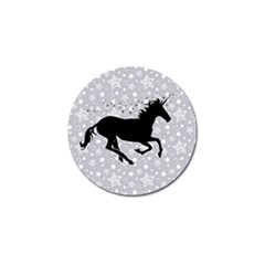 Unicorn on Starry Background Golf Ball Marker
