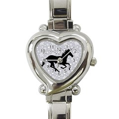 Unicorn on Starry Background Heart Italian Charm Watch