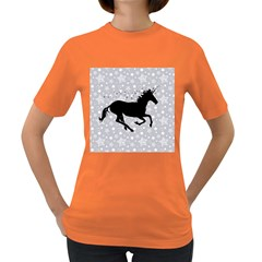 Unicorn on Starry Background Women s T-shirt (Colored)