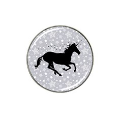 Unicorn On Starry Background Golf Ball Marker 4 Pack (for Hat Clip)