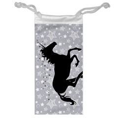Unicorn On Starry Background Jewelry Bag