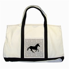 Unicorn on Starry Background Two Toned Tote Bag