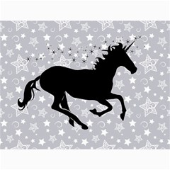 Unicorn on Starry Background Canvas 12  x 16  (Unframed)