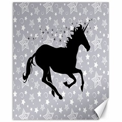 Unicorn On Starry Background Canvas 16  X 20  (unframed)
