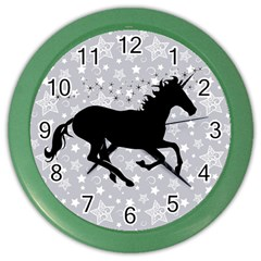 Unicorn on Starry Background Wall Clock (Color)