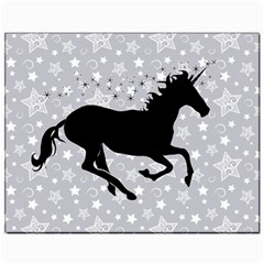 Unicorn On Starry Background Canvas 11  X 14  (unframed)