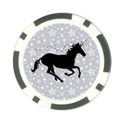 Unicorn on Starry Background Poker Chip