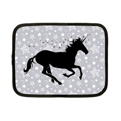 Unicorn On Starry Background Netbook Sleeve (small)