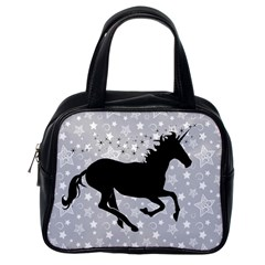 Unicorn on Starry Background Classic Handbag (One Side)
