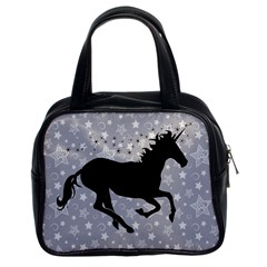 Unicorn on Starry Background Classic Handbag (Two Sides)