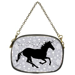 Unicorn on Starry Background Chain Purse (Two Sided)