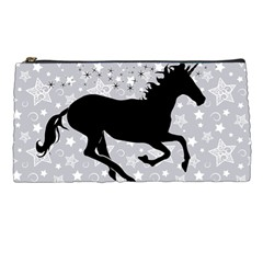 Unicorn on Starry Background Pencil Case