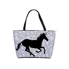 Unicorn On Starry Background Large Shoulder Bag