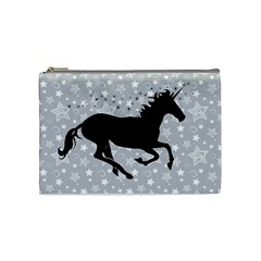 Unicorn On Starry Background Cosmetic Bag (medium)