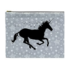 Unicorn on Starry Background Cosmetic Bag (XL)