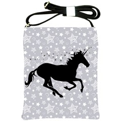 Unicorn on Starry Background Shoulder Sling Bag