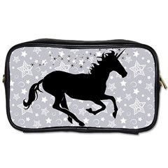 Unicorn On Starry Background Travel Toiletry Bag (two Sides)