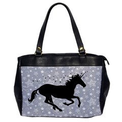 Unicorn On Starry Background Oversize Office Handbag (one Side)