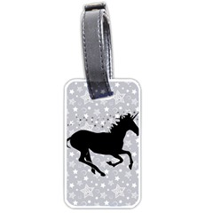 Unicorn On Starry Background Luggage Tag (one Side)
