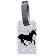 Unicorn on Starry Background Luggage Tag (Two Sides)