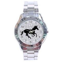 Unicorn on Starry Background Stainless Steel Watch