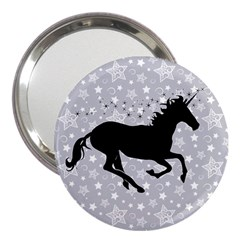 Unicorn on Starry Background 3  Handbag Mirror