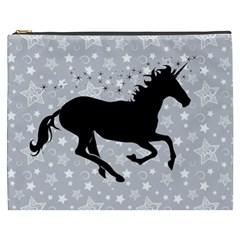 Unicorn on Starry Background Cosmetic Bag (XXXL)