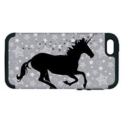 Unicorn On Starry Background Apple Iphone 5 Hardshell Case (pc+silicone)