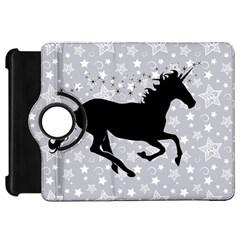 Unicorn on Starry Background Kindle Fire HD 7  (1st Gen) Flip 360 Case