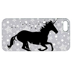 Unicorn On Starry Background Apple Iphone 5 Hardshell Case With Stand